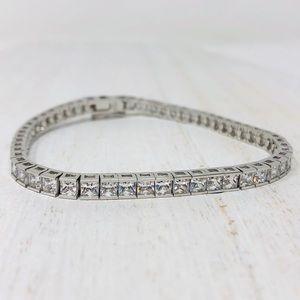 🆕 Sterling silver Krementz/CZ tennis bracelet
